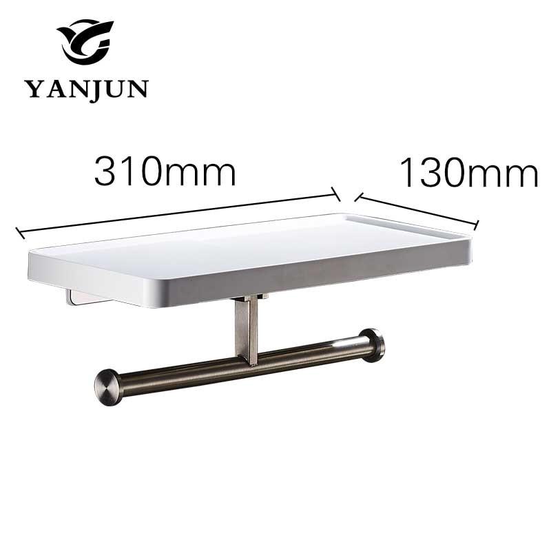 Yanjun Multi-function Bathroom Shelves Shelf  Bar Bathroom Accessories  Wall Shelf Living Room YJ-8831