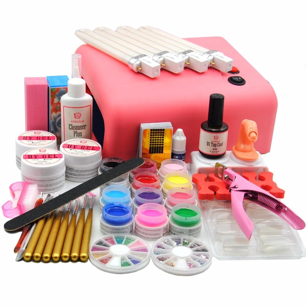Coscelia Professional 36w Pink Uv Lamp Nail Gel Polishes