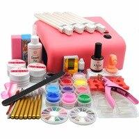 COSCELIA Professional 36W Pink UV Lamp Nail Gel Polishes Kit UV Gel Nail Kit Nail Gel Topcoat Brush Tools Kit Manicure Sets Kit