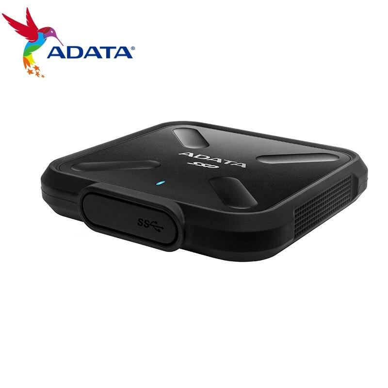 ADATA SD700 250G 512G SSD externe USB 3.1 jusqu'à 440 mo/s de qualité militaire antichoc Portable mince conception de Sprorty