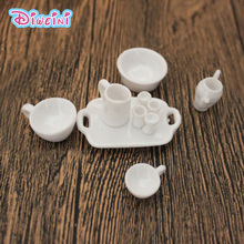Simulation Kitchen Cup Plate Set Miniature Figurine Pretend play Kitchen Toy Doll House DIY Accessories gift Baby Gift