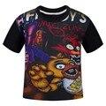 2017 Novos Dos Desenhos Animados de Algodão T Roupa Preta de Cinco Noites No Freddy Camisetas Camiseta de Manga Curta de Verão Das Crianças Dos Miúdos Roupas