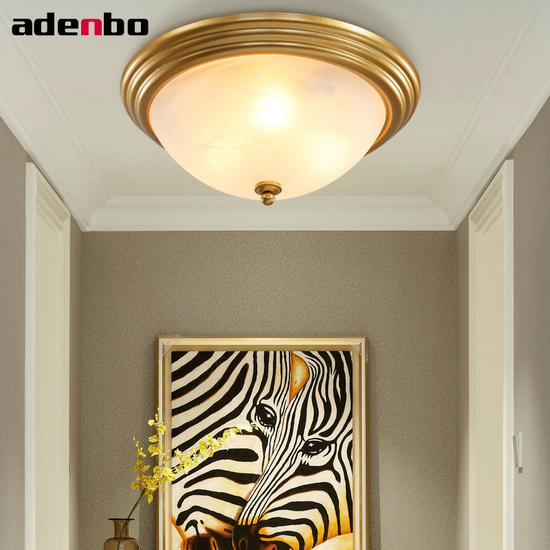Led Ceiling Lights Gold: American Country Style Lighting Gold LED Ceiling Lights