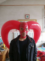 Latex Mask Inflatable Halloween Mask Rubber Bar Hood Customized