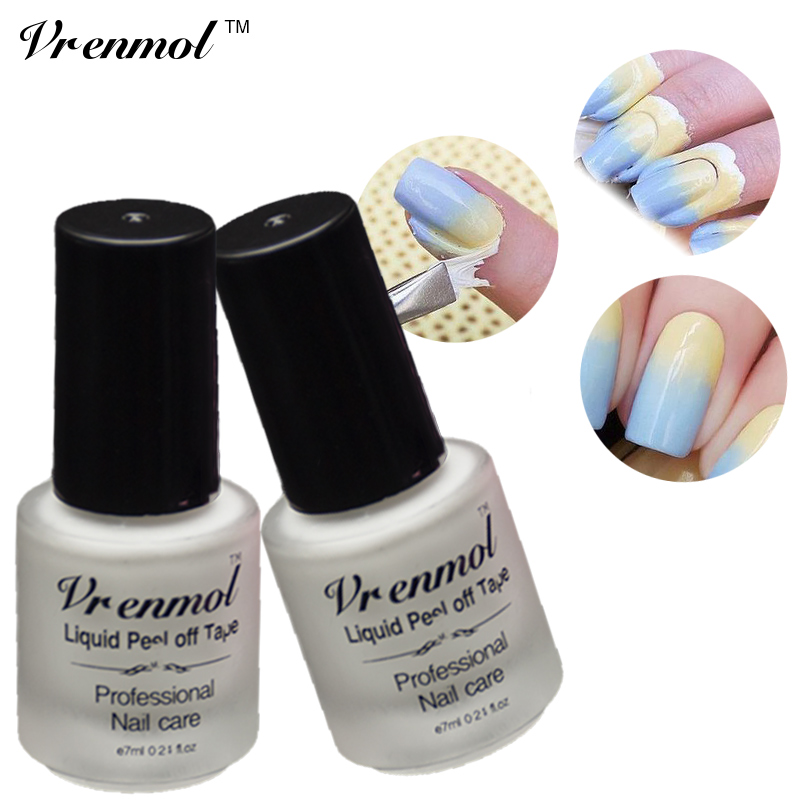 Red Nail Polish On Thumb: Vrenmol 1pcs White Pink Nail Polish Nail Art Tape Peel Off