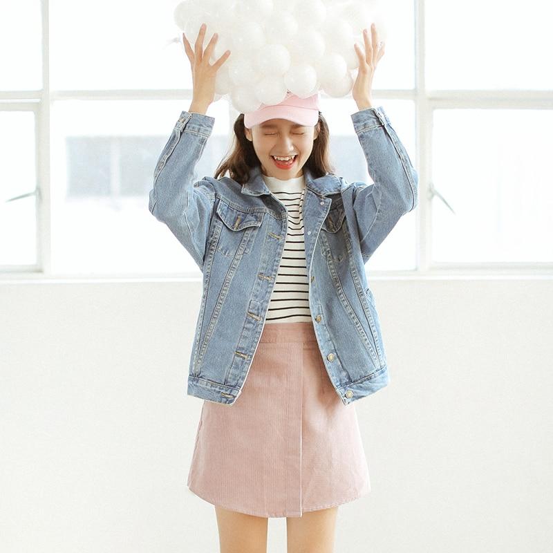 Women's Clothing Helpful 2018 Summer New Women Loose Bf Wind Denim Jacket Basic Jackets