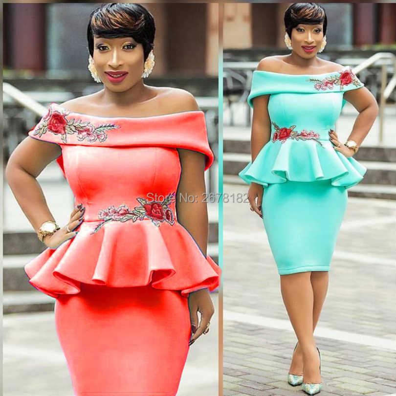 e133148d9b78 ... Turquoise Pink Off Shoulder Slash Neck Floral Embroidery Package Hips Bodycon  Midi Dress Elegant Ladies ...