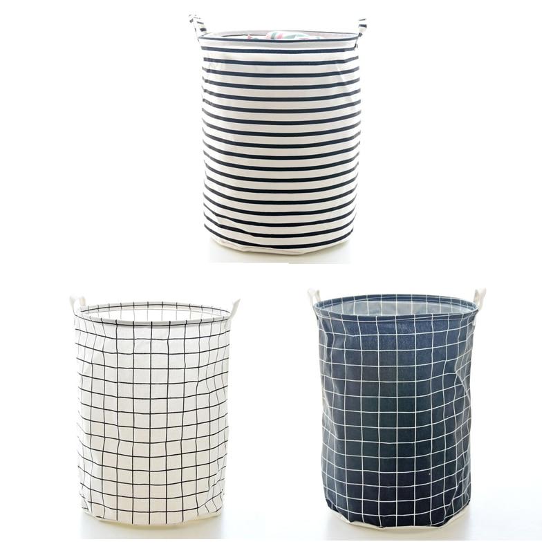 Folding Laundry Basket Stripe Storage Basket for Toys Geometric Clothes Basket Sundries Organizer cesto ropa sucia Home Storage