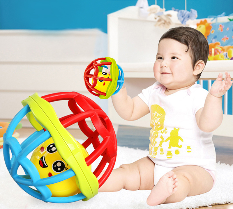 лучшая цена Funny Baby Infant Toy Baby Ball Toy Rattles Develop Baby Intelligence Bath Toys Hand GraspingBall Rattle Toy For 0-12 Months