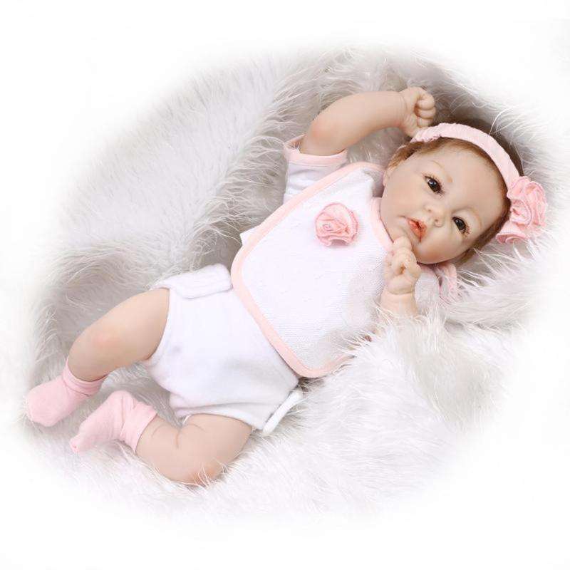 Soft Silicone Simulation Reborn Baby Emulated Doll Kids Playmate Toys for Newbrons Children Birthday Gift 40cm sotf silicone simulation reborn baby doll kids playmate fashion soft stuffed toys gift accompany toy birthday gifts