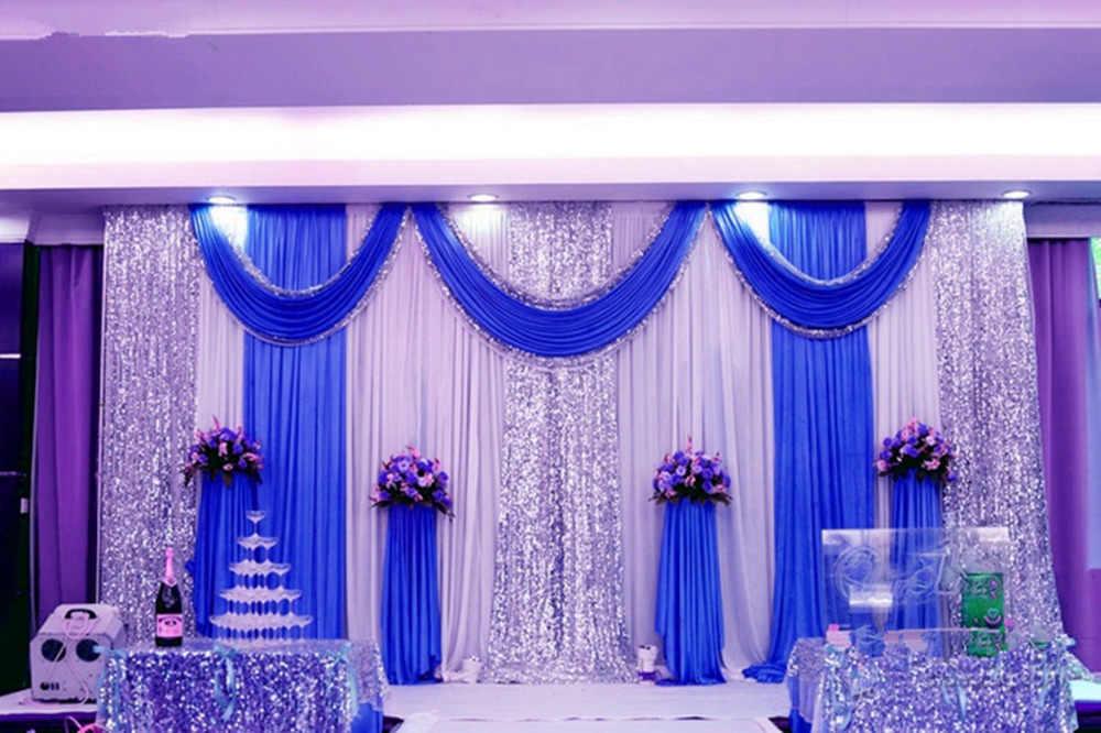 Экспресс Бесплатная доставка Свадебные декораций украшения романтический свадьба занавес с гирлянды пайетки js-87