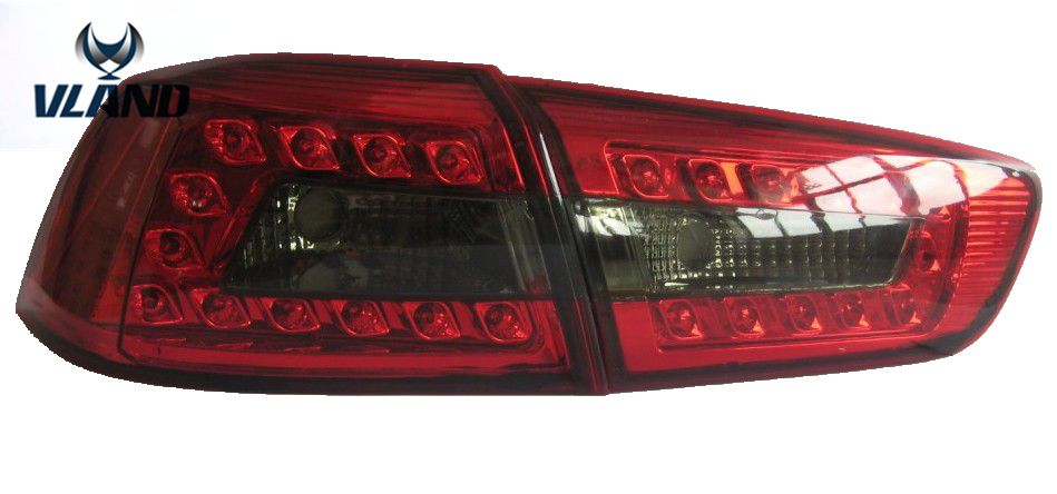 Free shipping Vland facory for  LANCER 2010-UP LED car taillight rear lamp plug and play design free shipping vland factory car parts for camry led taillight 2006 2007 2008 2011 plug and play car led taill lights