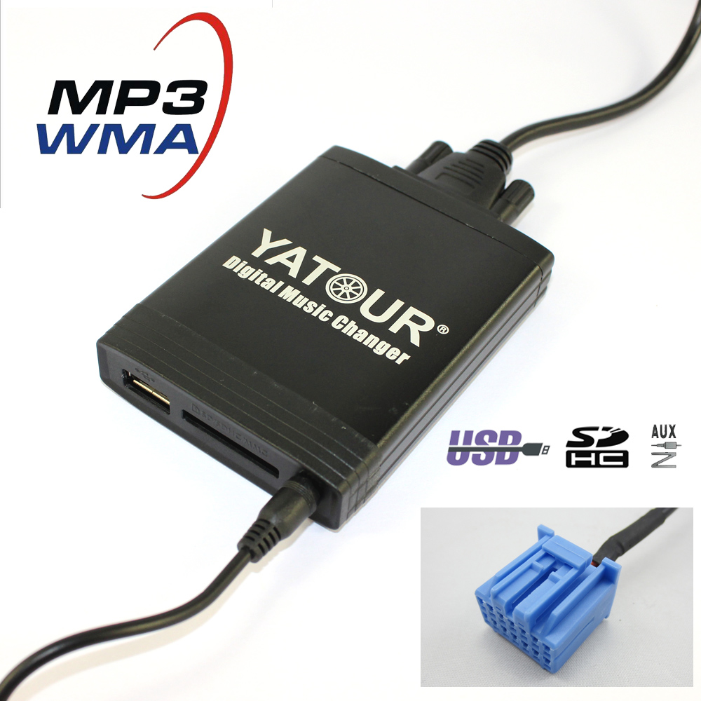 Yatour YT-M06 Car digital music changer For Honda Accord Civic CRV Fit Jazz Odyssey 1998-2004 USB SD AUX adapter BT interface yatour car bluetooth adapter kit work with factory cd changer for honda accord civic crv element odyssey pilot fit s2000 legend