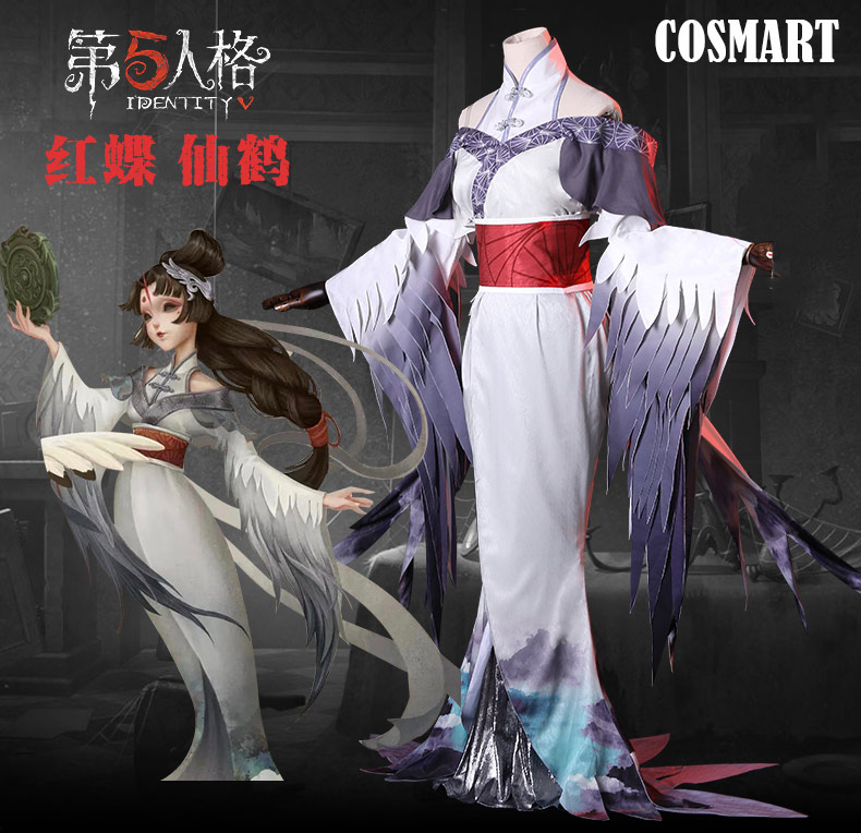 [July Stock] Game Identity V Crimson Butterfly Michiko Cosplay Costume Kimono Uniform Dress Halloween Costume For Women New 2019