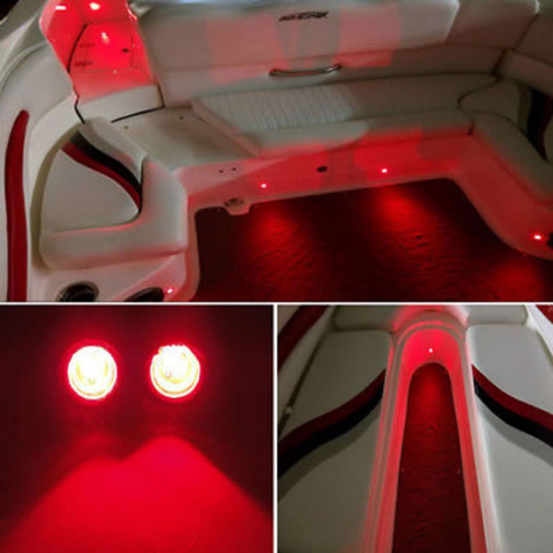 US $19 99 |4PCS LED Boat Light Waterproof 12v SunFish TRI WAVERUNNER  SUPERJET For Yamaha KAWASAKI STX 15F Jet Ski Courtesy Pontoon-in LED  Underwater