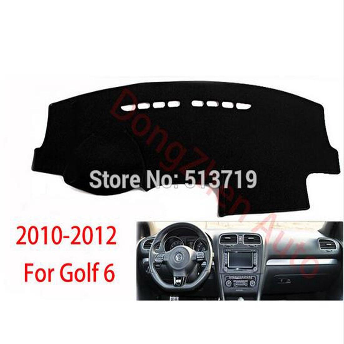 RHD Right Hand Drive Car Dashboard Avoid Light Pad Platform Desk Cover Mat Carpet For Volkswagen VW Golf 6 2010-2012
