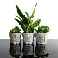 Сова дизайн формы для цветочного горшка бетонный цветочный горшок формы растения горшок Силиконовые формы Beton Декор