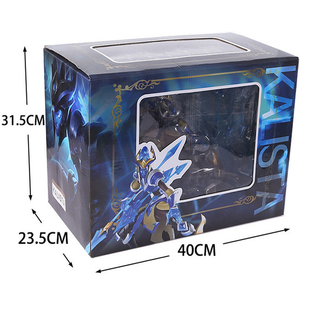 LOL League of Legends figure Action Game Kalista Model Toy action-figure 3D Game Heros anime party decor boy Creative Gift 3