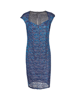S XXl Plus Sizes Crochet Floral Pattern Hollow Out Embroidered Lace Bodycon Women Dress Elegant Sheath