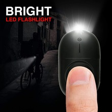 50 pcs new designed mini LED light personal alarm keychian for women girls kids elderly personal security keychain alarm