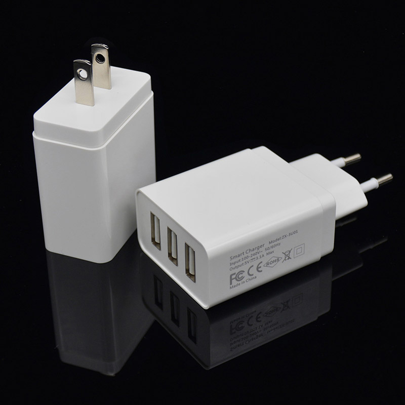 INGMAYA 3 Port USB-laddare 3.1A snabbladdning för IPone 4S 5 5S 5C - Reservdelar och tillbehör för mobiltelefoner - Foto 4