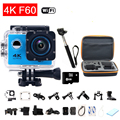 gopro hero 4 style F60 4k Sport Camera Wifi Full HD 2.0 Screen Helmet Diving Cam Underwater 30m go pro Waterproof Action Camera