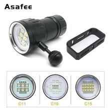 20000LM XM-L2 LED Diving Flashlight XHP90 LED Photography Video light underwater 100m waterproof Tactical torch Lamp цены онлайн