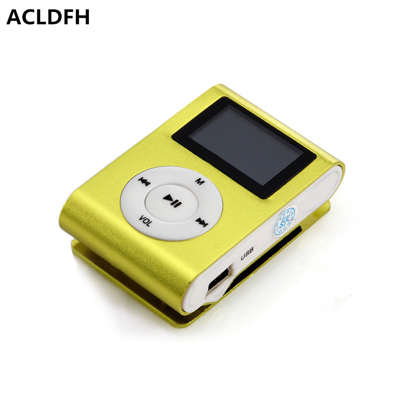 ACLDFH MP3 Player MP 3 mini lettore lcd screen speler music clip reproductor kids sport led mp3 players aux usb digital audio