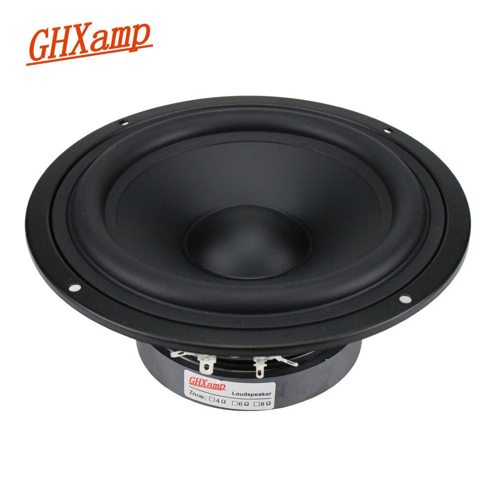 GHXAMP 7 pouces unité de haut-parleur de basse moyenne 130W HIfi Mediant Home cinéma graves profonds haut-parleur de graves bord en caoutchouc 1pc