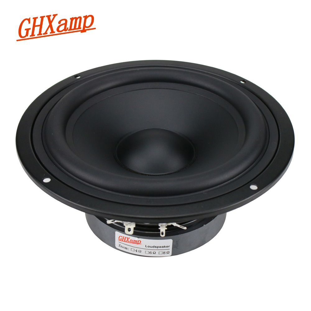 GHXAMP 7 inch Mid Bass Speaker Unit 8ohm 130W HIfi Mediant Home Theater Deep Bass Woofer Loudspeaker Rubber edge 1pc