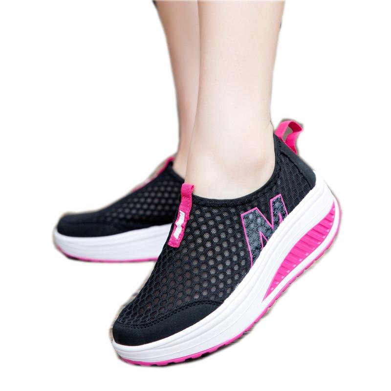 Nuevos Zapatos Casuales Zapatos de Moda Del Deporte de Las Mujeres Aumento de la