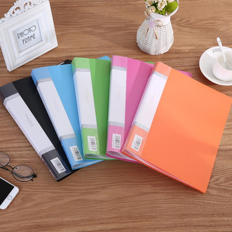 1PC A4 Display Book 10 ~100Page Transparent Insert Folder Document Storage Bag For Bank Campus File Office Workplace Family Life