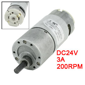 UXCELL Hot Sale 1 Pcs 200RPM DC 24V 3A 6mm Shaft Speed Reducing Geared Box Motor