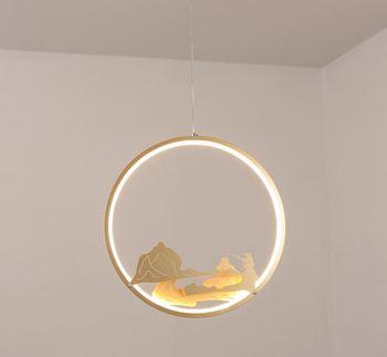 Chandelier new Chinese creative single head combination small lamp restaurant bar bedside study aisle corridor porch lights