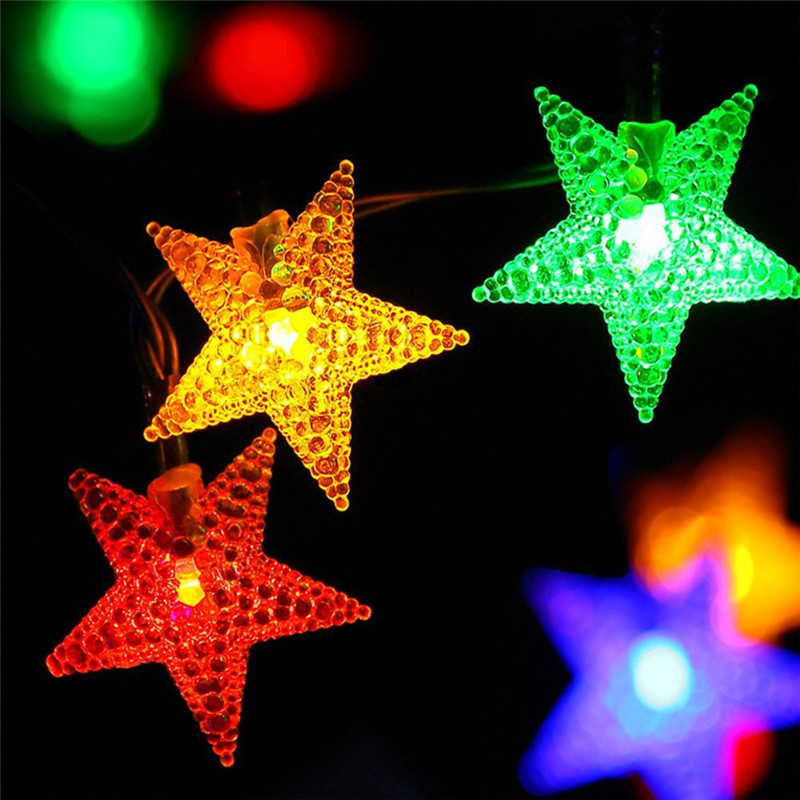 Hi-Lumix 4.8M 20Leds/6M 30leds led String lights Solar powered outdoor decorative Fairy lighting Romantic Party,Wedding,Holiday