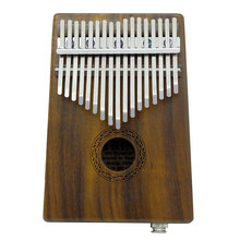 17-key EQ Thumb Piano Kalimba Mbira Sanza Solid Acacia Built-in Pickup With 6.35mm Speaker Interface bag gloves for Beginner(China)