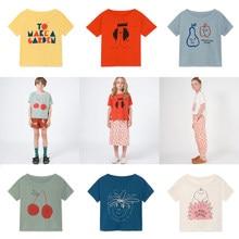 70bb32c80b166 Filles T Shirt nouveau Bobo Choses 2019 été cerise impression T-Shirts  garçons enfants T Shirt à manches courtes T-Shirts hauts .