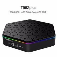 ФОТО original t95z plus tv box 2gb 16gb amlogic s912 octa core android 7.1 bluetooth 2.4g/5ghz dual wifi smart box pk m8s pro x96 x92