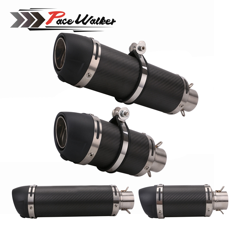 FREE SHIPPING Motorcycle Exhaust Muffler Pipe Carbon Fiber Exhaust pipe for CBR 125 250 CB400 CB600 YZF FZ400 Z750 Cafe RacerFREE SHIPPING Motorcycle Exhaust Muffler Pipe Carbon Fiber Exhaust pipe for CBR 125 250 CB400 CB600 YZF FZ400 Z750 Cafe Racer