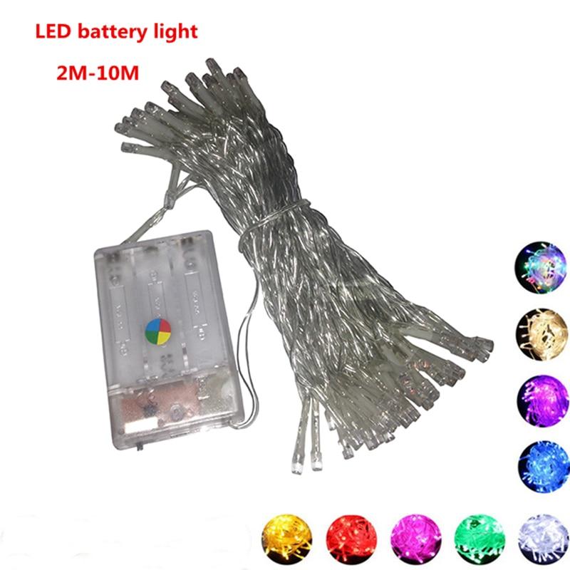 4PCS  Christmas string light LED battery light 2M 3M 4M 5M 10M  holiday lights/wedding/ LED decoration lamp series battery
