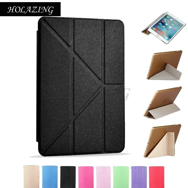 "Glorious Multi Angle Stand 360 Rotation Stand Cover For Ipad Mini 2 3 9.7"" Smart Sleep & Wake Up Magnet Pu Leather Case Coque Funda"