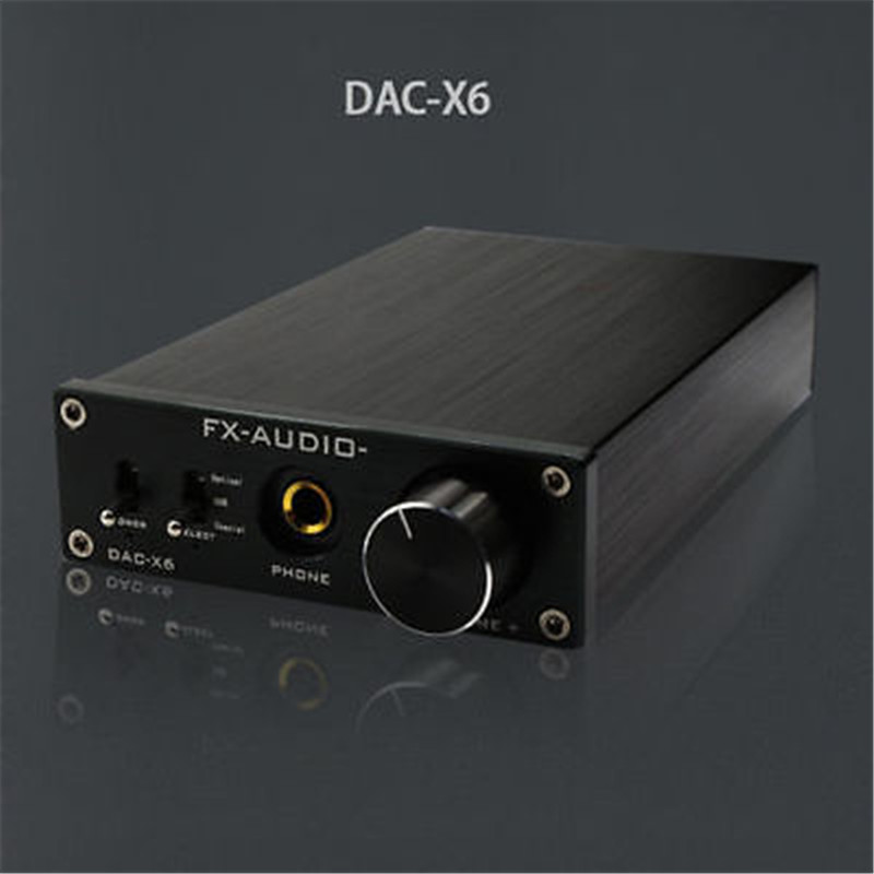 2017 FX-Audio DAC-X6 HiFi amp Optical/Coaxial/USB DAC Mini Home Digital Audio Decoder Amplifier 24BIT/192 12V Power Supply hot sale dac board optical fiber coaxial usb dac decoding amp board