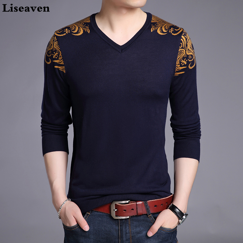 Liseaven Sweater Men Quality Pullover O-neck Casual Brand Clothing Men's Sweaters Slim Fit Men Pullovers
