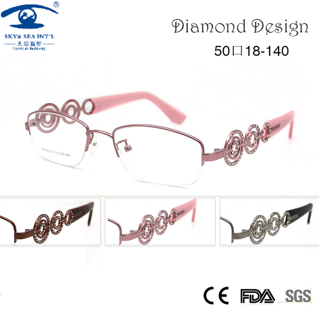 Brand Designer Frame for Eyeglasses Women Prescription Eyewear in Clear Lens Fashion Womens Glasses Optical Spectacle Frame