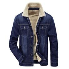 2016 Winter New Style Warm Men's Jacket Warm Fur Collar  Cotton Denim Jacket Men Comfortable Cotton Casual Cowboy Jacket