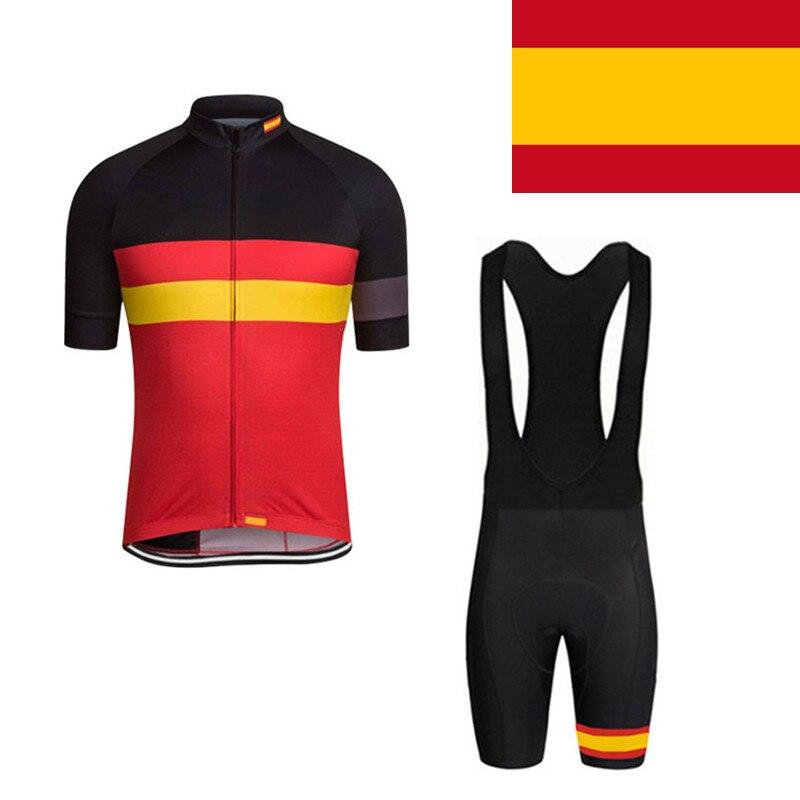 Цена за 2017 Национальный Задействуя Джерси Испания Мтв джерси Велоспорт Рубашка Roupa Ciclismo Quick dry Велосипед Одежда Мужчины Женщины