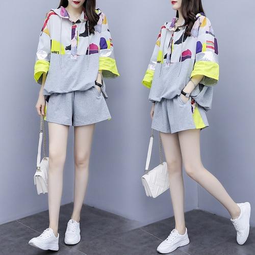 Grande taille tenues survêtement pour femmes Sportswear femmes 2 pièce ensemble pantalons et haut grande taille femmes survêtements vêtements décontractés - 3