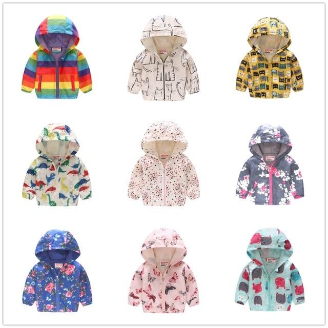 Colorido Bebê Meninos Hoodies Casacos Crianças Casacos Com Capuz Roupas Meninas Dos Desenhos Animados Roupas Crianças Outerwear Camisa Top Jumper 2-7 ano