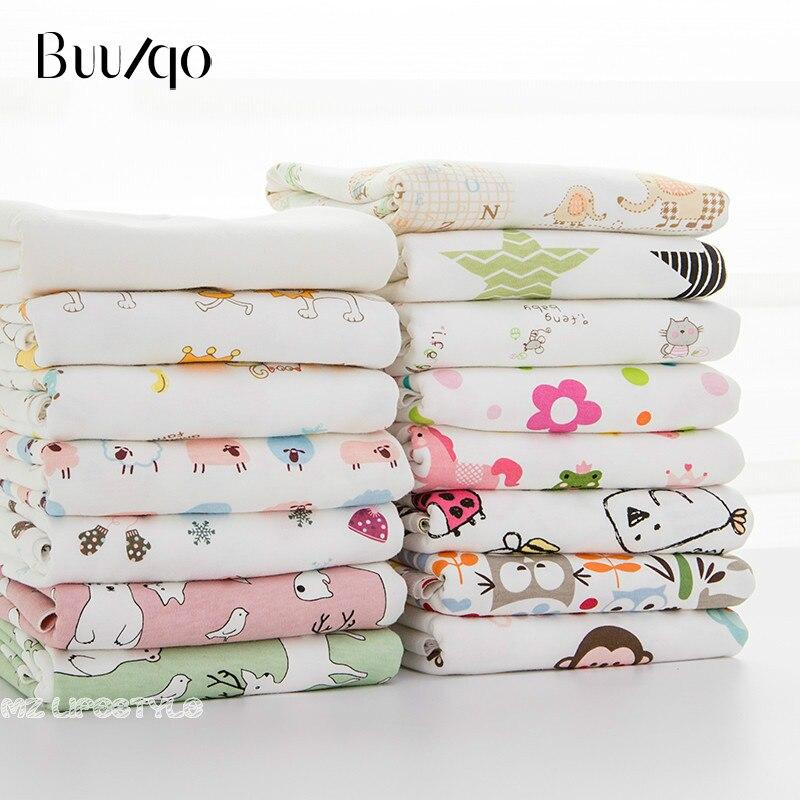 Buulqo Nouveau Bébé coton tricoté tissu extensible Imprimé tricoté jersey tissu par demi-mètre DIY bébé vêtements tissu 50x170 cm