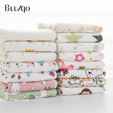 Buulqo New Baby cotton knitted fabric stretchy Printed  jersey by half meter DIY baby clothing 50x170cm